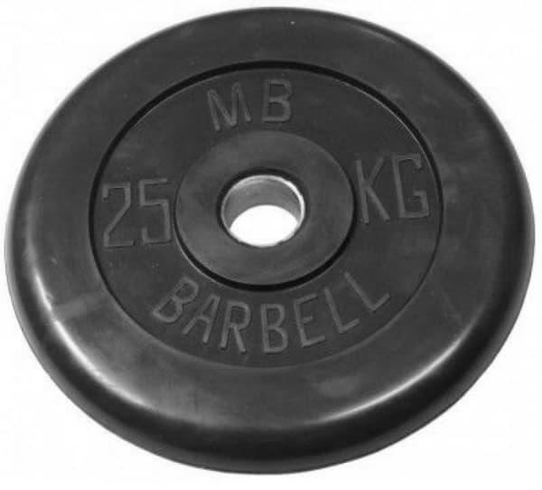 Диск Bestway обрезиненный литой черный 26 мм 15 кг