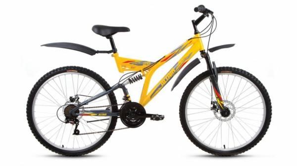 "Велосипед 26"" Altair MTB FS 26 2.0 Disc Желтый/Серый Матовый 18 ск 17-18 г"