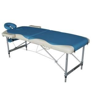 Массажный стол  DFC Nirvana Elegant Deluxe голубой/бежевый