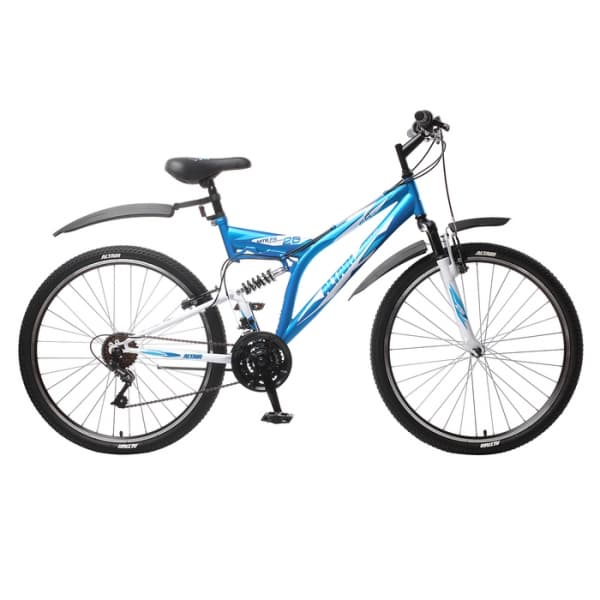 "Велосипед 26"" Altair MTB FS 26 1.0 Синий/Белый 18 ск 17-18 г"