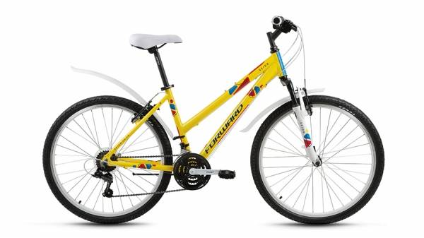 "Велосипед 26"" Forward Seido 1.0 Желтый 18 ск 17-18 г"