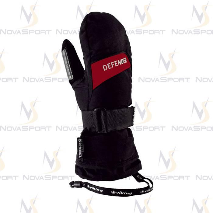 Лыжные перчатки Viking Defender Mitten Black-red